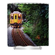 Train With Tunnel Of Pingxi Line, Taiwan Shower Curtain