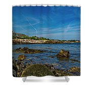 Tranquil Blues Day Kennebunkport Shower Curtain