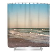 Tranquil Waves Shower Curtain