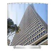 Transamerica Pyramid San Francisco R738 Sq Shower Curtain by Wingsdomain Art and Photography
