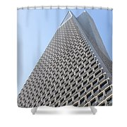 Transamerica Pyramid San Francisco R740 Sq Shower Curtain by Wingsdomain Art and Photography