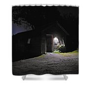 Trapp Family Lodge Cabin Sunrise Stowe Vermont Photo Shower Curtain