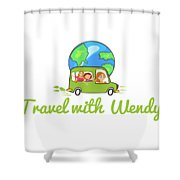 Travel With Wendy Shower Curtain
