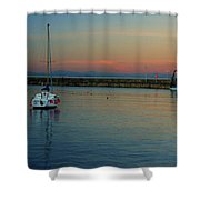 Trawler And A Yacht Shower Curtain
