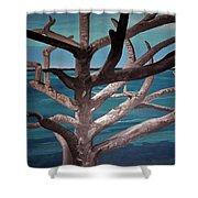 Tree And Beach Shower Curtain