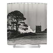 Tree And Tower Shower Curtain