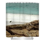 Tree Bark Shower Curtain