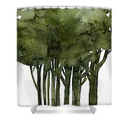 Tree Impressions 1b Shower Curtain