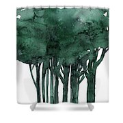 Tree Impressions 1d Shower Curtain