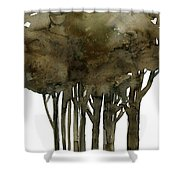 Tree Impressions No. 1a Shower Curtain