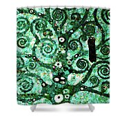 Tree Of Life Abstract Expressionism Shower Curtain