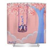 Tree Swing 3 Shower Curtain