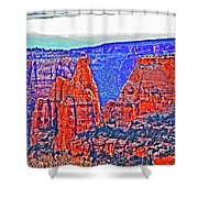 Trees Plateau Valley Color 2871ado National Monument  Shower Curtain