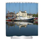 Trefusis Gy242 At Glasson Dock Shower Curtain