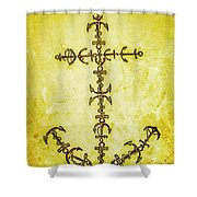 Tribal Waters Shower Curtain