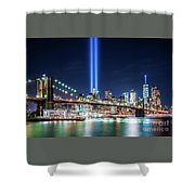 Tribute In Light From Brooklyn 1 Shower Curtain
