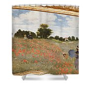 Tribute To Claude Monet Shower Curtain