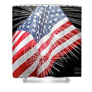 Tribute To The Usa Shower Curtain