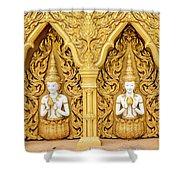 Triple Buddhas, Thailand Shower Curtain