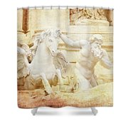 Triton And Horse Shower Curtain