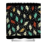 Tropical Design Pattern Shower Curtain