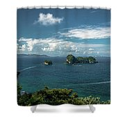 Tropical Island In The Ocean Shower Curtain