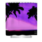 Tropical Pink Sunset Shower Curtain