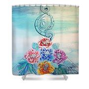 Tropicana Meets Pacifica Shower Curtain