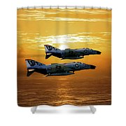 Trouble On The Horizon Shower Curtain