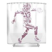 Tua Tagovailoa Alabama Crimson Tide Pixel Art 1 Shower Curtain