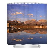 Tufa Shores At Dawn Shower Curtain by Sean Sarsfield
