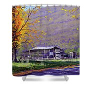 Tumut Valley Farm Shed Shower Curtain