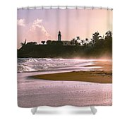 Tuna Punta Lighthouse Color Shower Curtain