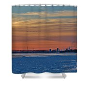 Tundra Swan Niagara Sunset Shower Curtain