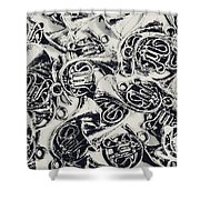 Tunes And Tones Shower Curtain
