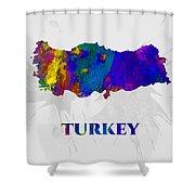 Turkey, Map, Artist Singh Shower Curtain