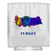 Turkey, Map, Artist Singh Shower Curtain