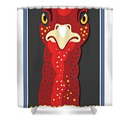 Turkey Stare Jp Shower Curtain