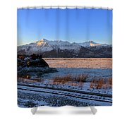 Turnagain Arm And Kenai Mountains Alaska Shower Curtain