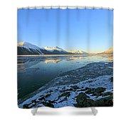 Turnagain Arm In Winter Alaska Shower Curtain