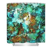 Turquoise Terrain Shower Curtain