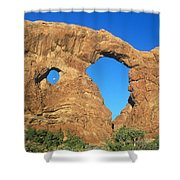 Turret Arch With Moon Shower Curtain