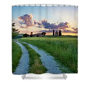 Tuscan Sunset Shower Curtain