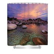 Twilight Canvas  Shower Curtain by Sean Sarsfield