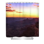 Twilight In The Canyon Shower Curtain