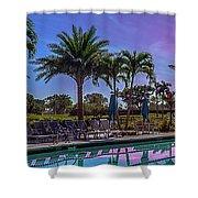 Twilight Pool Shower Curtain by Jody Lane