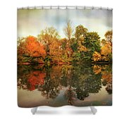 Twin Pond Reflections Shower Curtain