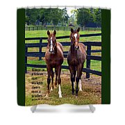 Two Friends With Proverbs 18 Vs 24 Shower Curtain