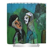Two Men In A Field Shower Curtain