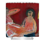 Two Nudes By A Lamp Shower Curtain